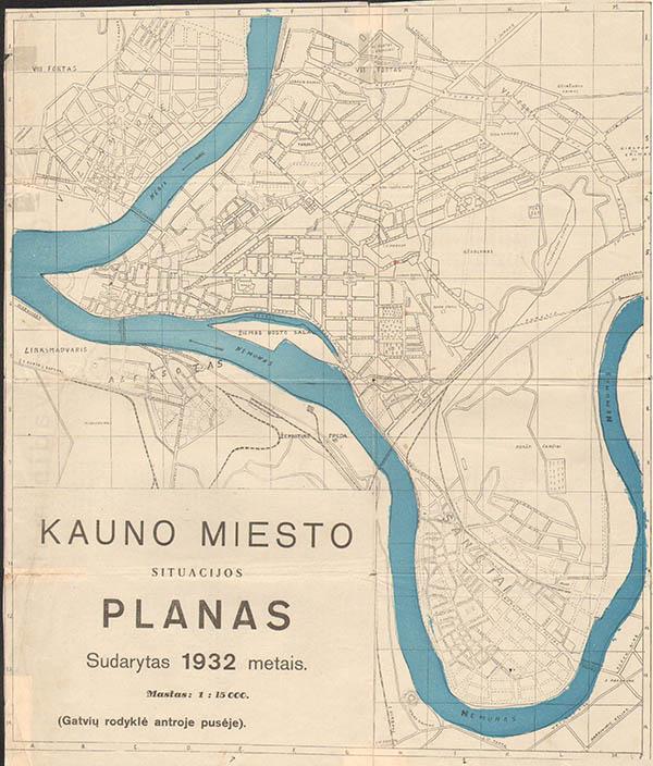 Kauno miesto planas 1932