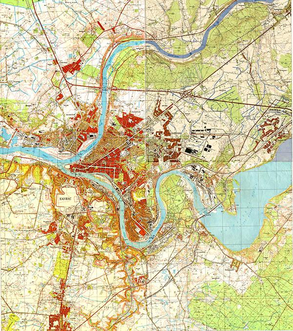 Kauno žemėlapis 1967