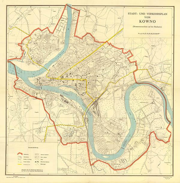 Kauno miesto planas 1941