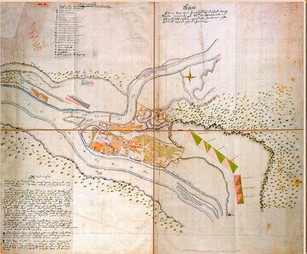 Kauno planas 1714