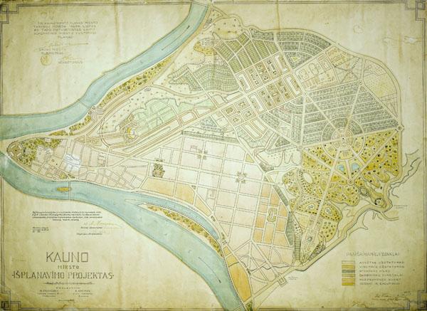 Kauno miesto planas 1923