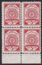 Latvian stamps 1918