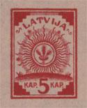Latviškas pašto ženklas 1918