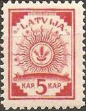 Latviškas pašto ženklas perforuotas