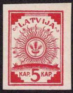 Stamp on map