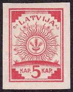 Latvian stamp