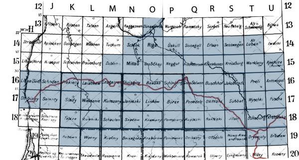 Karte des westlichen russlands stamps