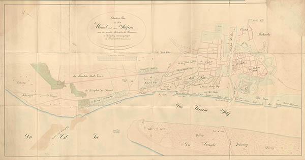 Plan der Stadt memel und hafens