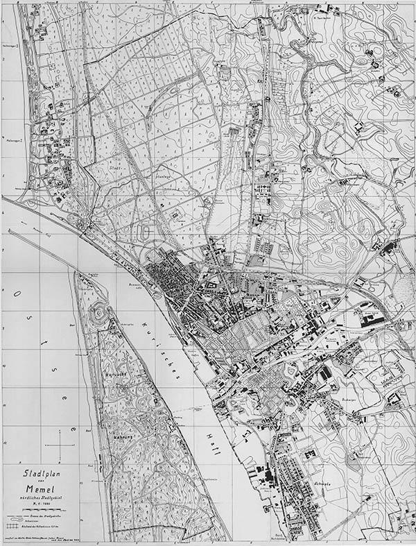 Stadtplan von Memel