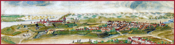 Panorama of Memel 1670