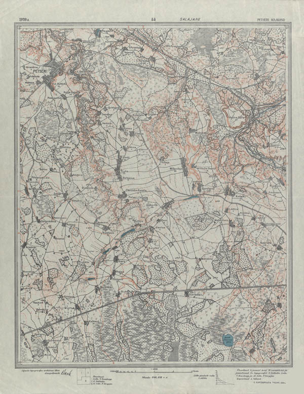 Estonian inter-war 1:42000 map L-88