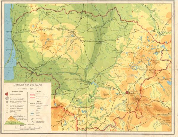 Lietuvos TSR žemėlapis
