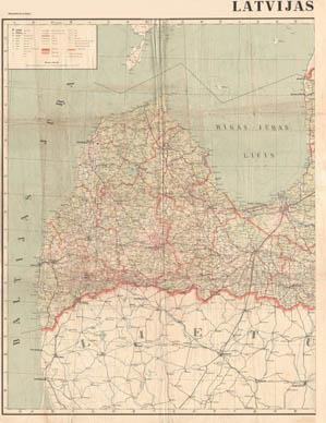 Latvija 1:400000 1930