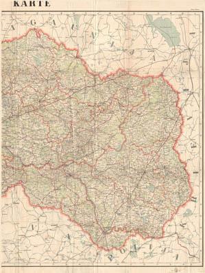 Latvija 1:400 000 1930