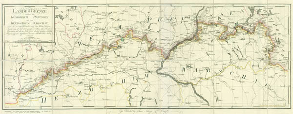 Border map between Prussia and Poland