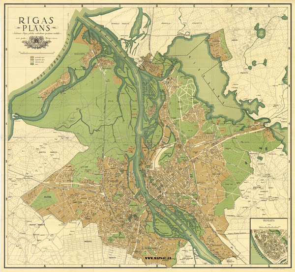MAPSUlt Maps In History And History In Maps - Old riga map