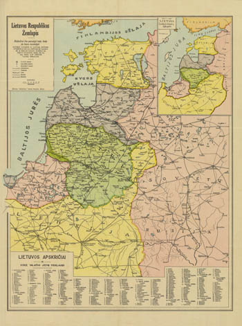 Map of Lithuania 1921