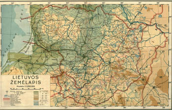 Map of Lithuania 1938