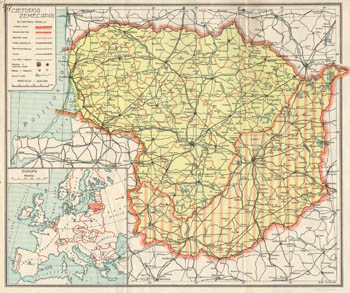 Map of Lithuania 1937