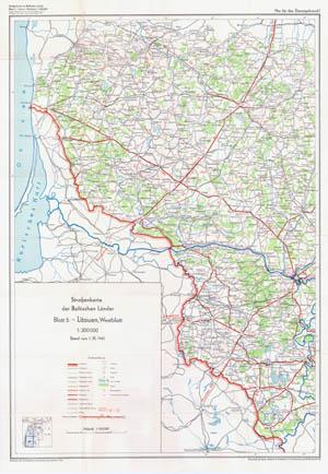 Strassenkarte der Baltischen Lander
