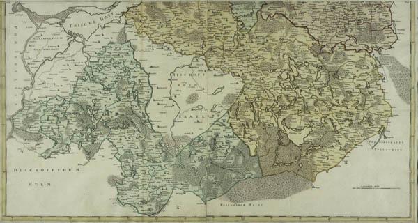 Magna mappa geographica Borussiae regnum exact exhibens, in qua non tantum limites correcti sed etiam principaliora loca, civitates, oppida & praefecturae omni studio designata sund