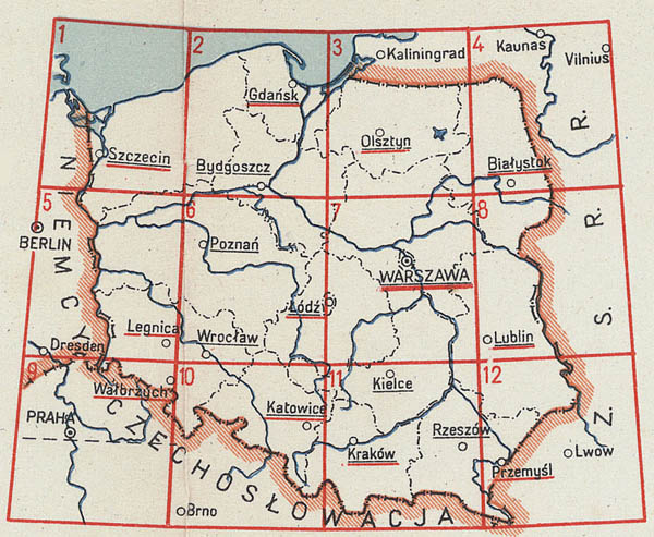 Map of Poland 1:500000