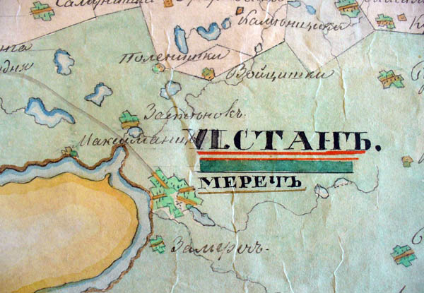 Map of district Kaunas of Vilnius province, 1842