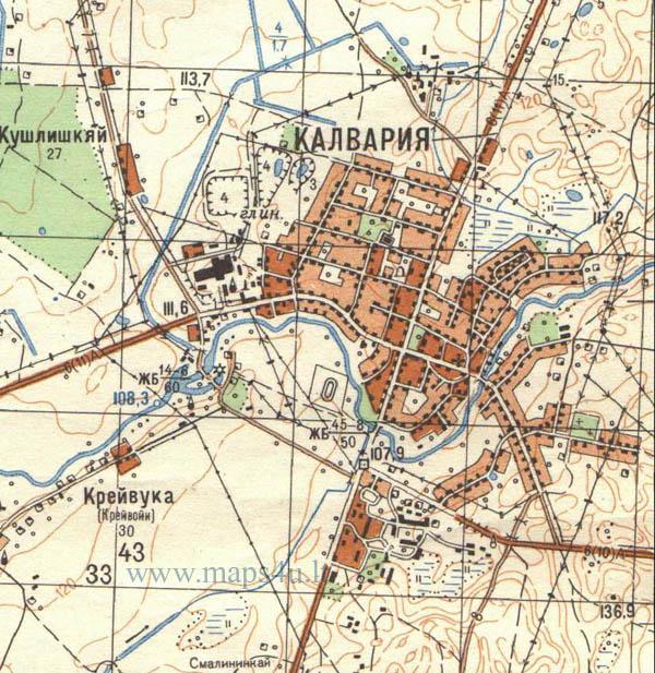 Kalvarijos žemėlapis