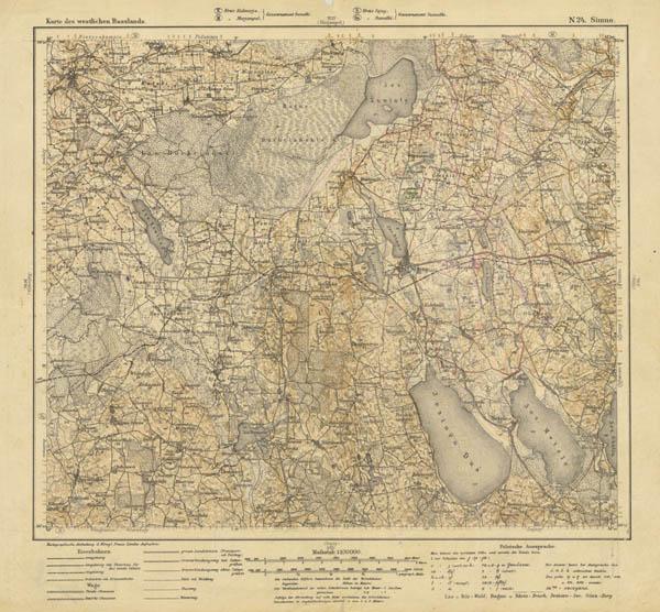 Karte des westlichen Russlands