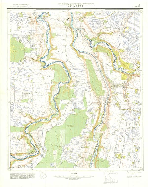 1:10000 soviet map