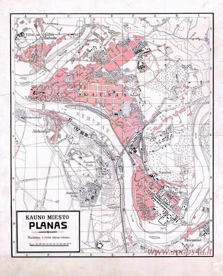 Kauno miesto planas 1:20000