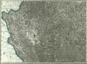 Lenkijos Karalystė žemėlapis 3 varstai colyje
