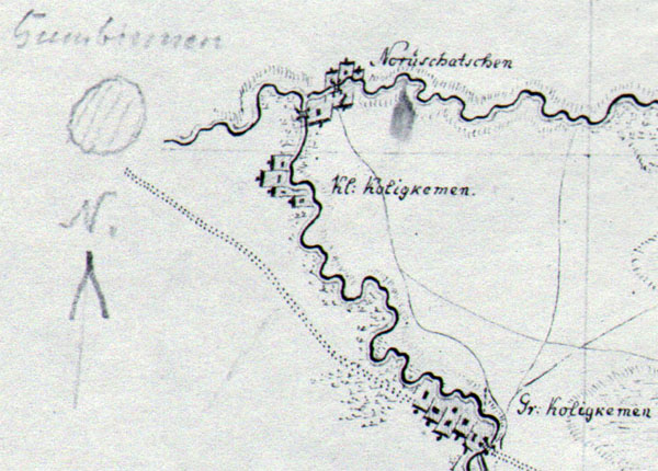 Map of Gumbinnen 1780
