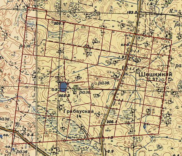 Skroblaų kaimas 1946