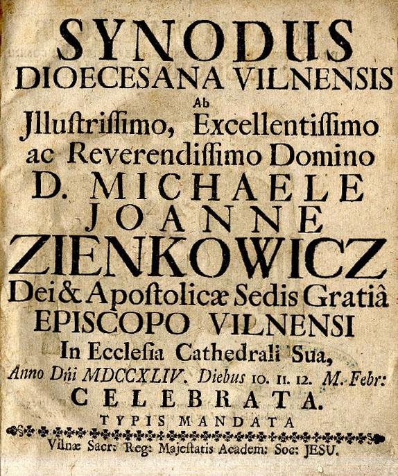 Synodus Vilnensis 1744