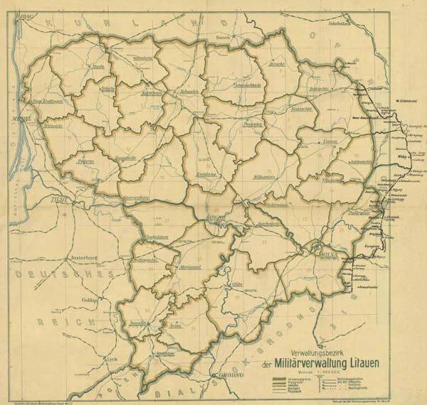 Карта военного округа Литвы