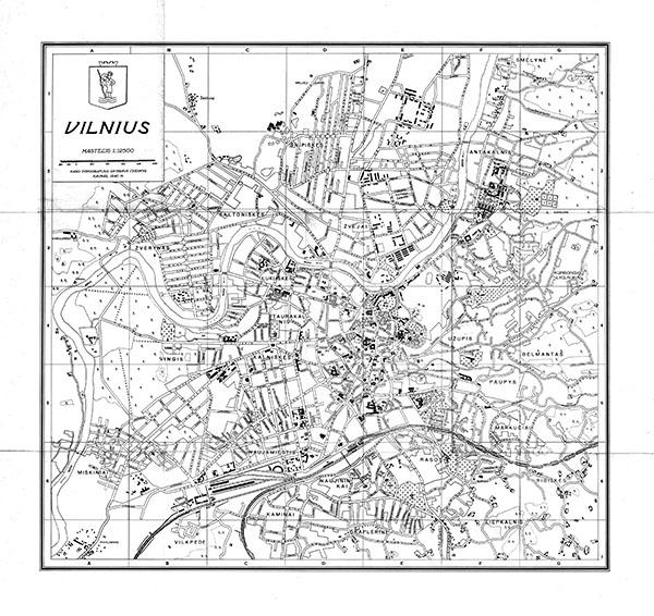 План города Вильнюс 1:12500