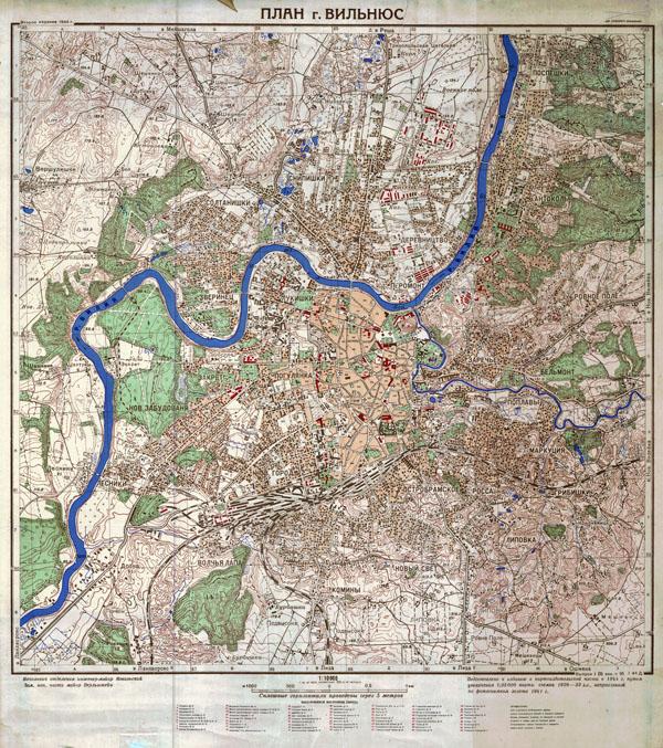 Vilniaus miesto planas 1944
