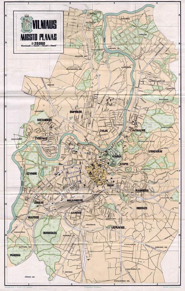 Vilniaus miesto planas 1940