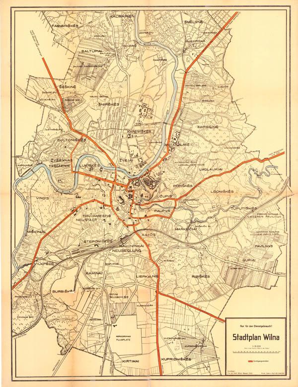 Stadtplan Wilna