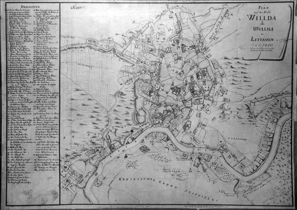 Johann Georg Max Fürstenhoff, Plan von der Stadt Wilda oder Willna in Littauen