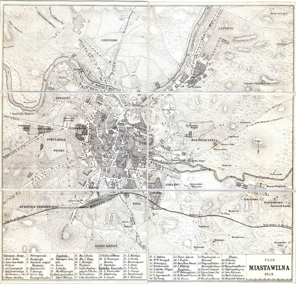 Plan miasta Wilna 1859