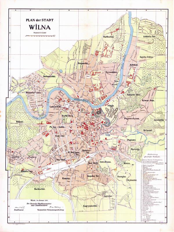 Plan der stadt Wilna