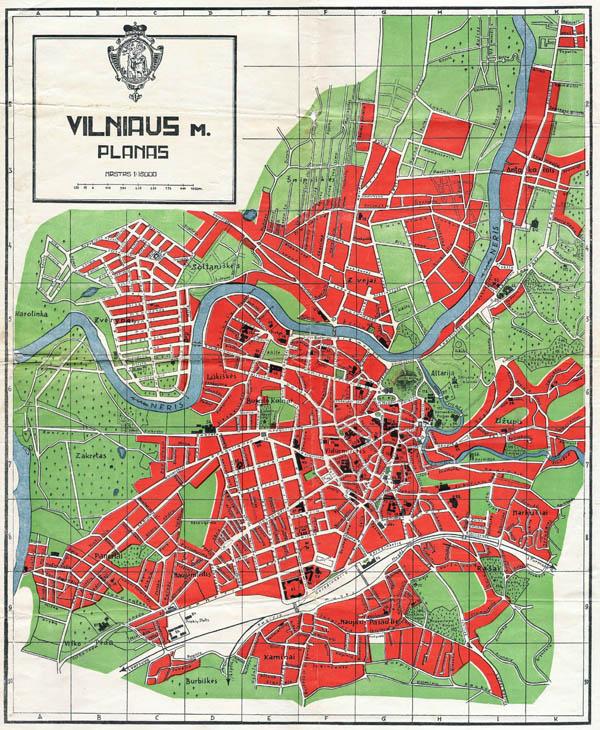 Vilniaus miesto planas 1937