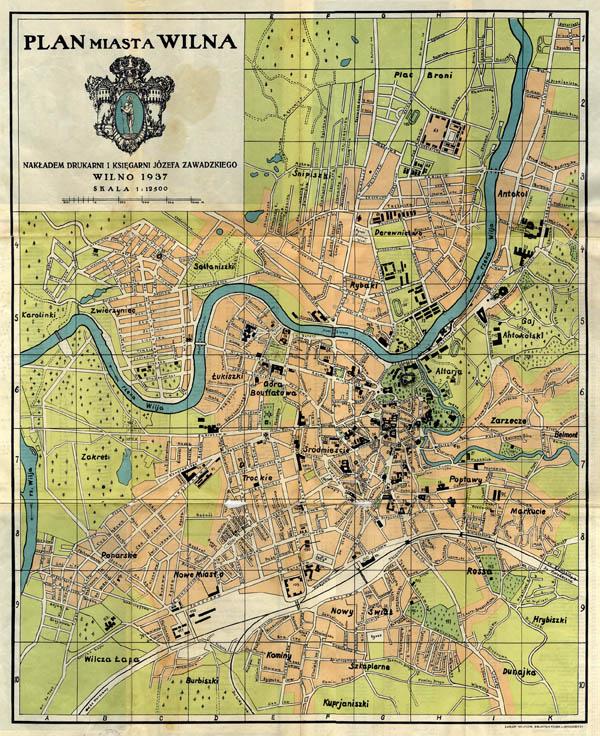 Plan miasta Wilna 1937