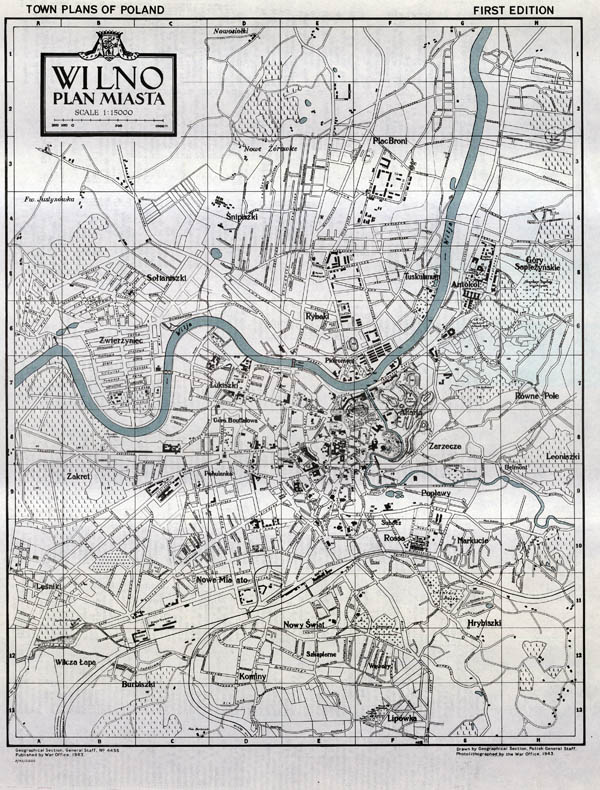 Wilno plan miasta 1943