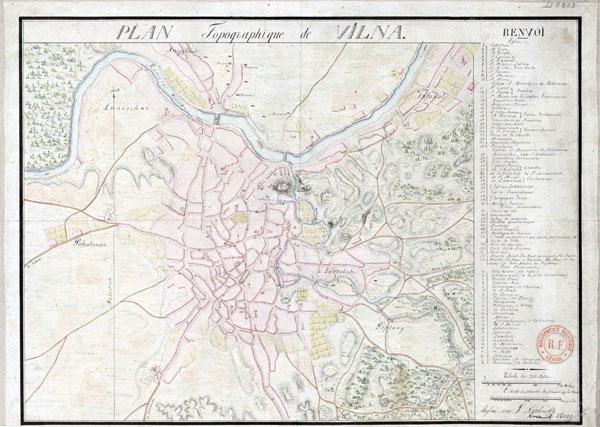 Plan Vilna 1803
