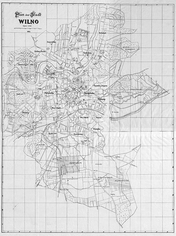 Plan der Stadt Wilno