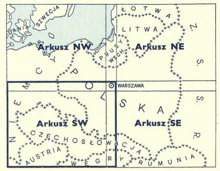 Mapa Polski i krajow osciennych 1:1000000
