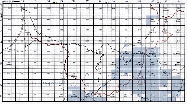 Polish WIG maps, 1:25000